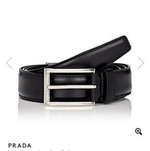 Black prada belt